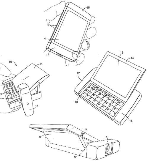 Nokia patent application for turn and slide touchscreen concept with QWERTY keyboard