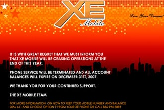 XE Mobile announces they