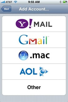 iPhone Yahoo! push email