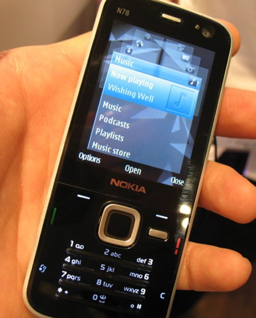 Nokia N78 hands-on at Mobile World Congress 2008 Barcelona ...