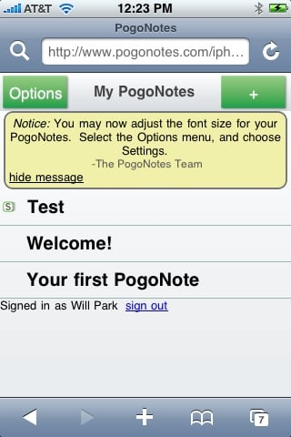PogoNotes - sleek, stylish, and simple notes appication