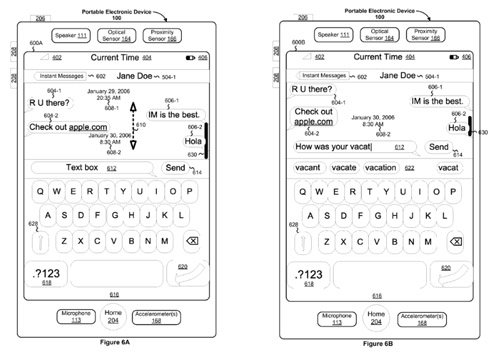 Apple patent application for instant messaging application