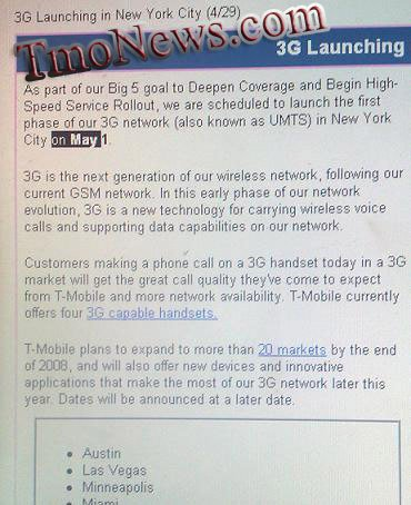 T-Mobile 3G network to launch tomorrow