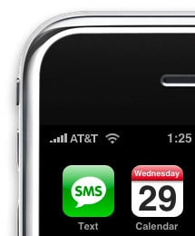 AT&T carrier logo on iPhone