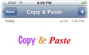 iPhone cut and paste in rich text editor