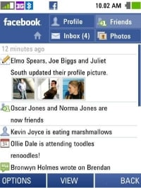 Facebook on the INQ1