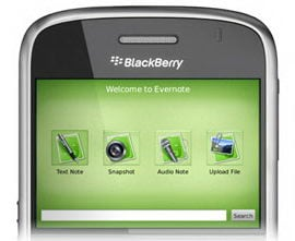Evernote goes BlackBerry!