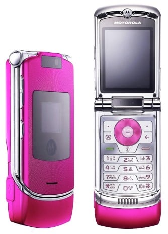 motorola razr v3 lives in luk hot pink version in korea. Black Bedroom Furniture Sets. Home Design Ideas