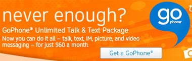 AT&T unveils Unlimited Talk and Text GoPhone plan