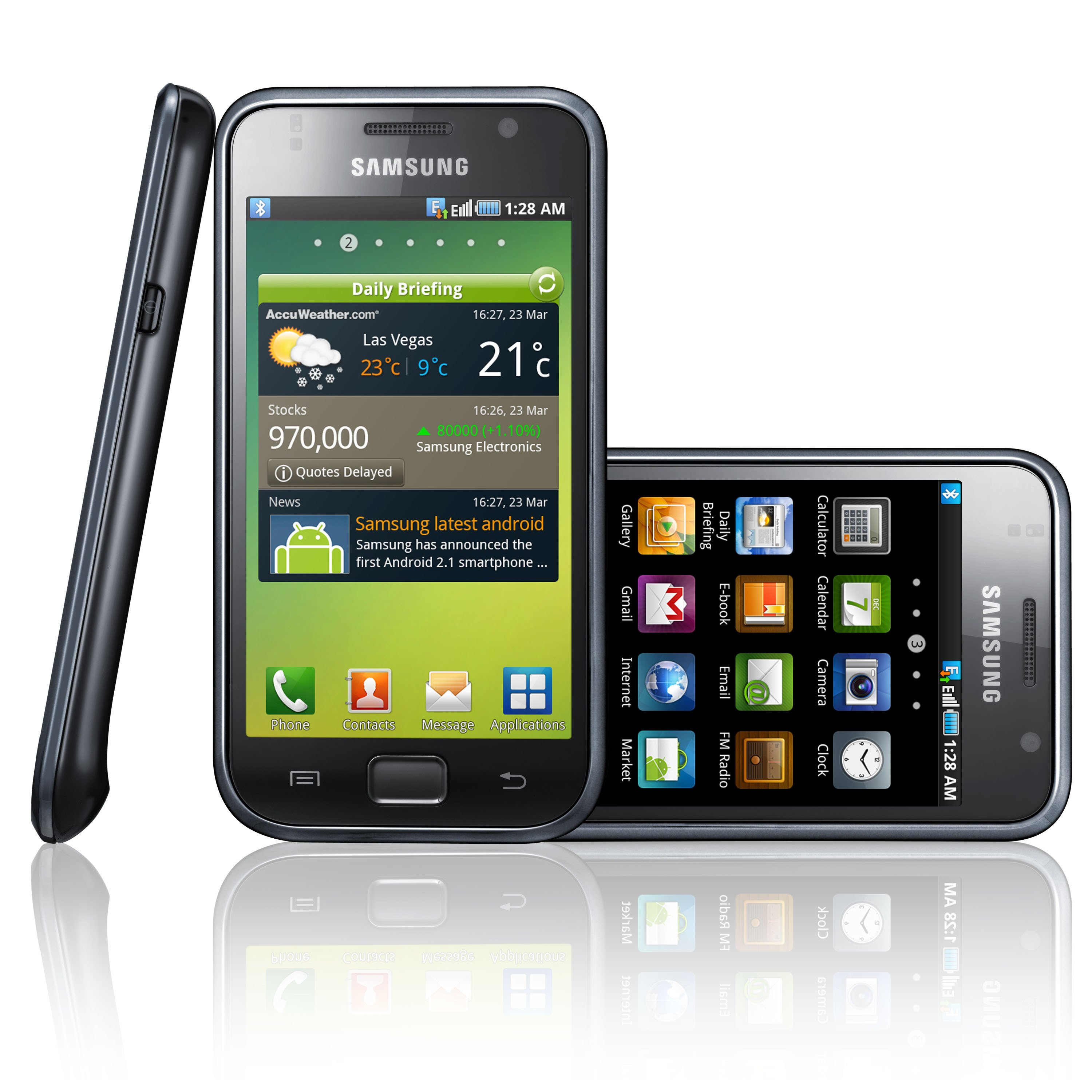 Samsung Galaxy S Announced – Android 2.1, 4″ WVGA Screen, 1 Ghz ...