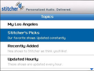 Stitcher Radio for BlackBerry