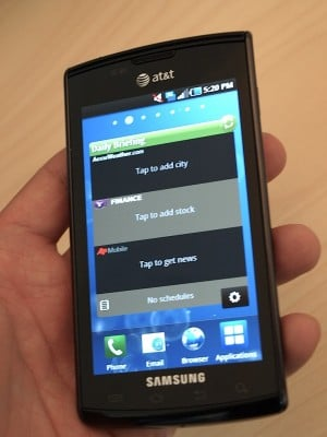 Image showing the AT&T Samsung Captivate, a Galaxy S phone
