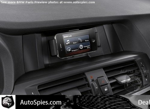 Mockup graphic showing what the BMW iPhone dock accessory might look like.