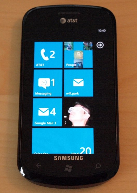 review at t samsung focus windows phone super amoled and wp7