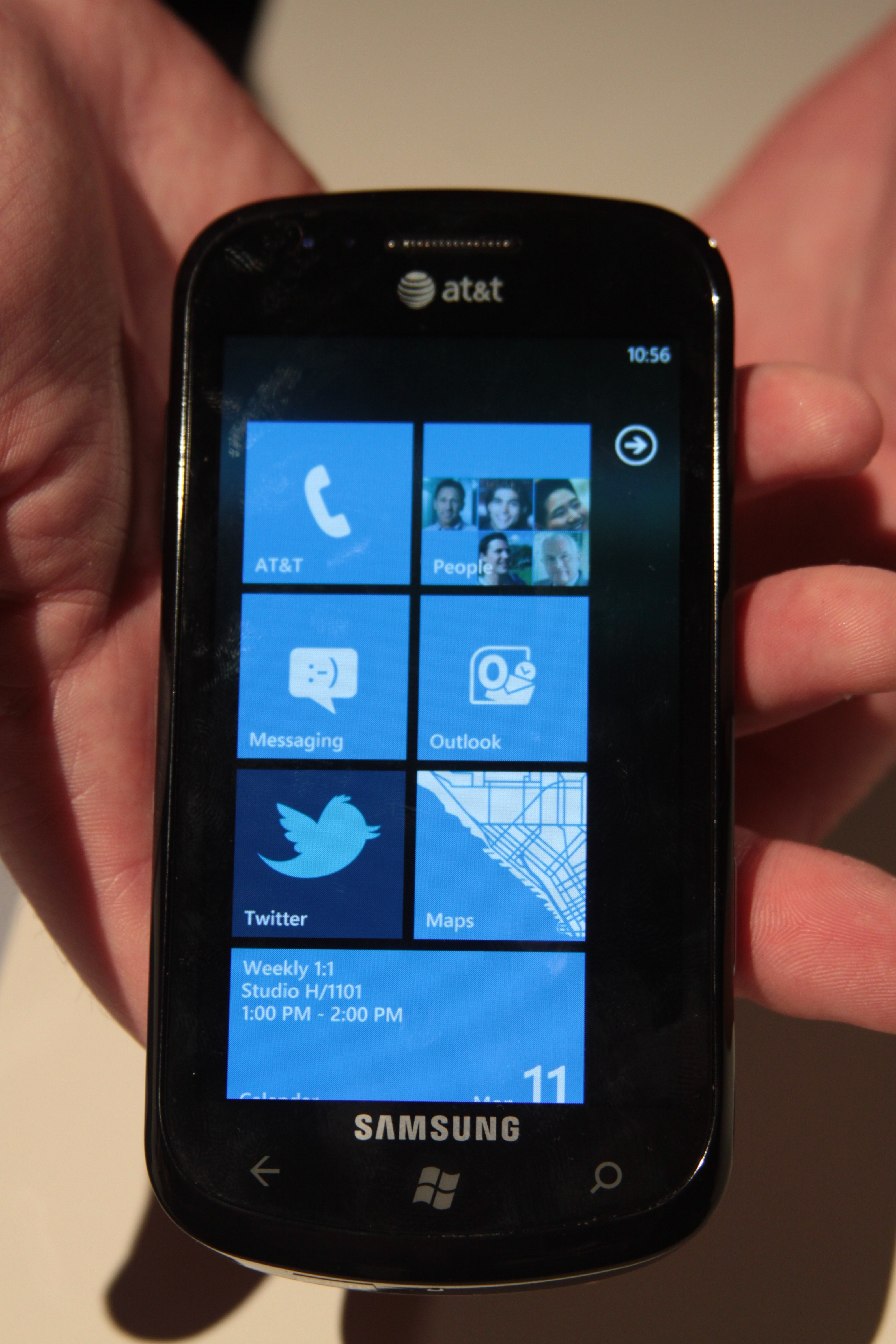 Samsung Focus Windows Phone 7 handset - Hands-on the WP7 phone from Samsung