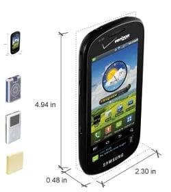 Verizon Samsung Continuum goes online