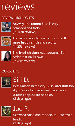 Yelp app comes to Windows Phone 7