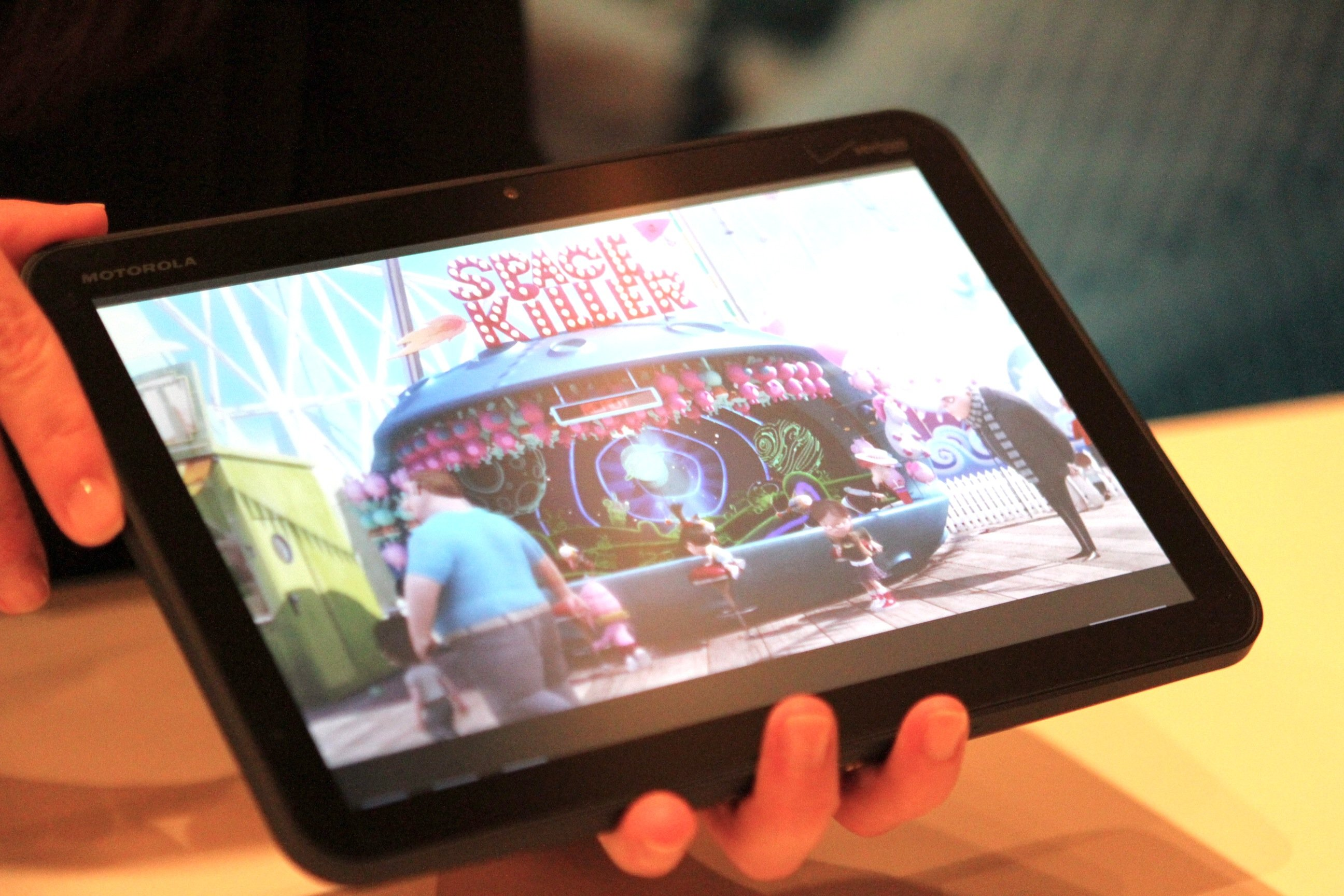 Motorola showed off their Android 3.0 Honeycomb tablet, known as the XOOM, at CES Las Vegas 2011