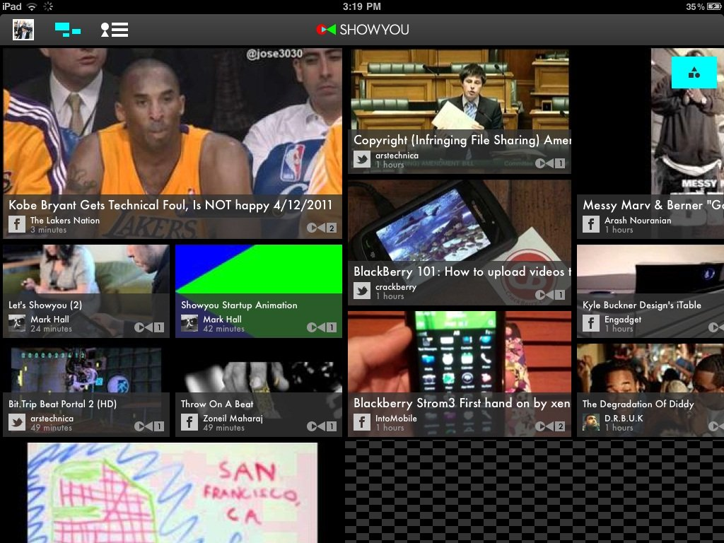 Showyou iPad app is like Flipboard for videos