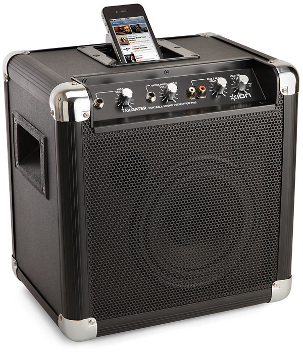 The Tailgater Portable iPhone Sound System