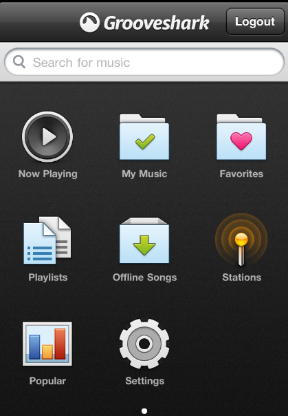 iPhone-Grooveshark