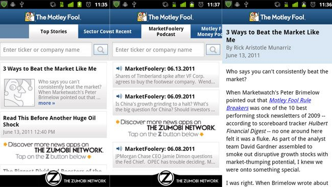 The Motley Fool gets iOS and Android apps compliments to Zumobi