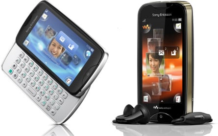 Sony Ericsson Mix Walkman and txt pro phones unveiled