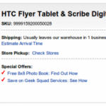 Best Buy now offers Wi-Fi only HTC Flyer with stylus for $499.99