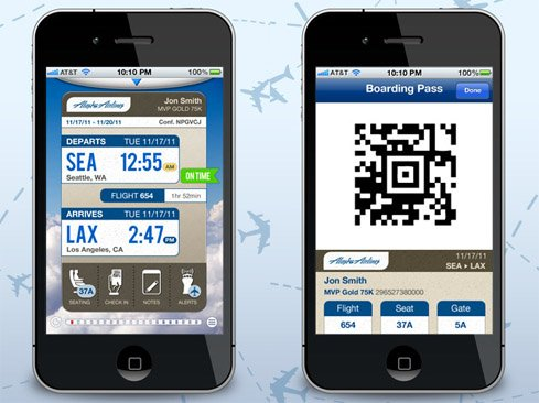 Alaska Airlines' updated iOS app rocks mobile boarding pass!