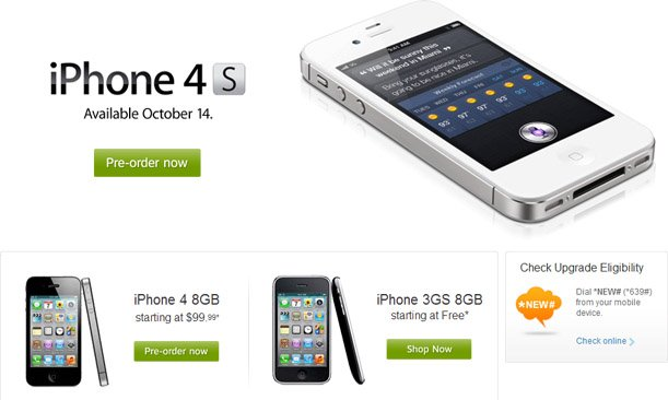 AT&T iPhone 4S preorders hit 200,000 in the first 12 hours