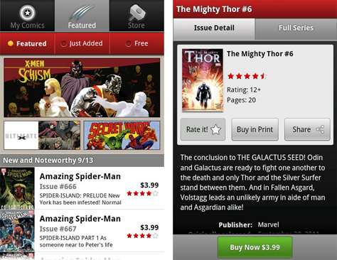 Marvel Comics app hits the Android Market