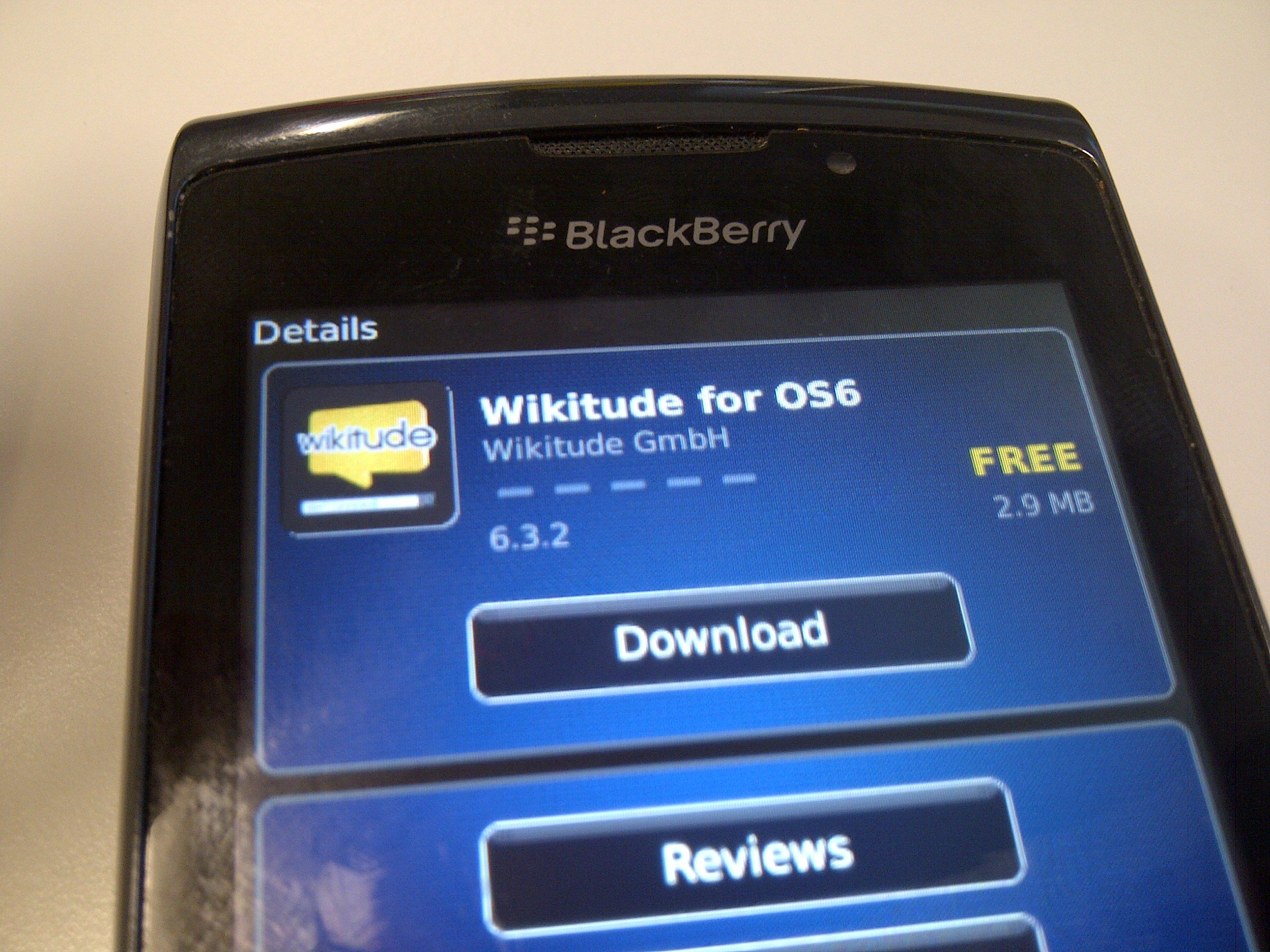 BlackBerry-wikitude6