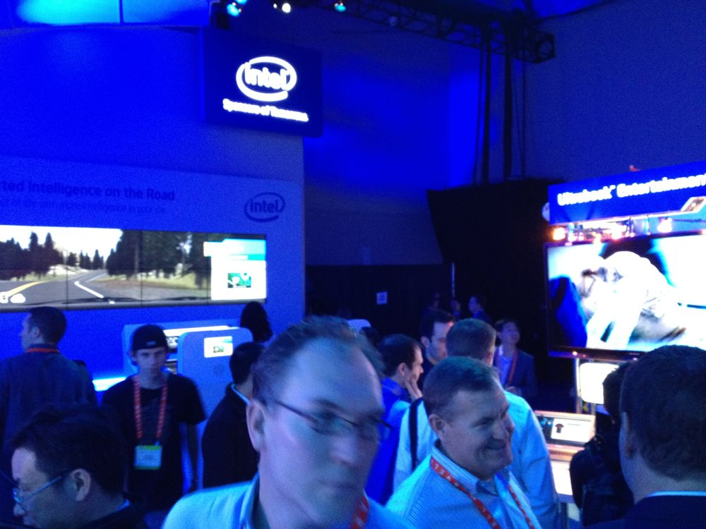 CES 2012 Intel Booth Tour