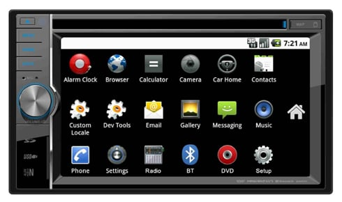 Rydeen DV612 is an Android-based in-car radio and entertainment head unit