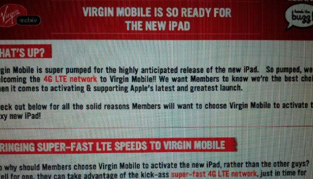 Virgin Mobile Canada to launch its LTE network next week?