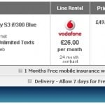 Samsung Galaxy S III available for 49 GBP with Vodafone's two-year 26 GBP/month contract
