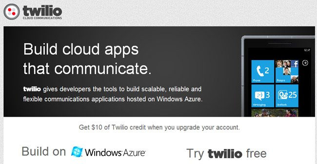Twilio brings its voice and messaging APIs to Windows Azure