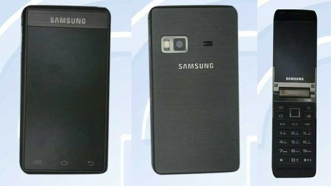 China Unicom's Samsung GT-B9120 is an Android-powered clamshell with two touchscreens