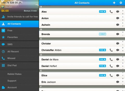 Mobile VoIP company Rebtel launches an iPad app