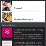 Evernote Food update with Facebook timeline sharing, shortened URLs in Twitter and better related notes