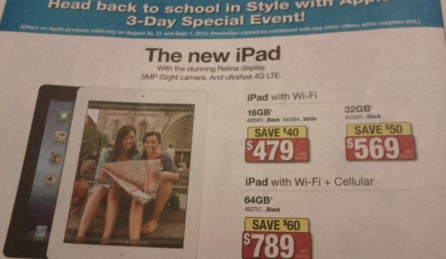 Canada: New iPads price drops by up to $60 @ Staples