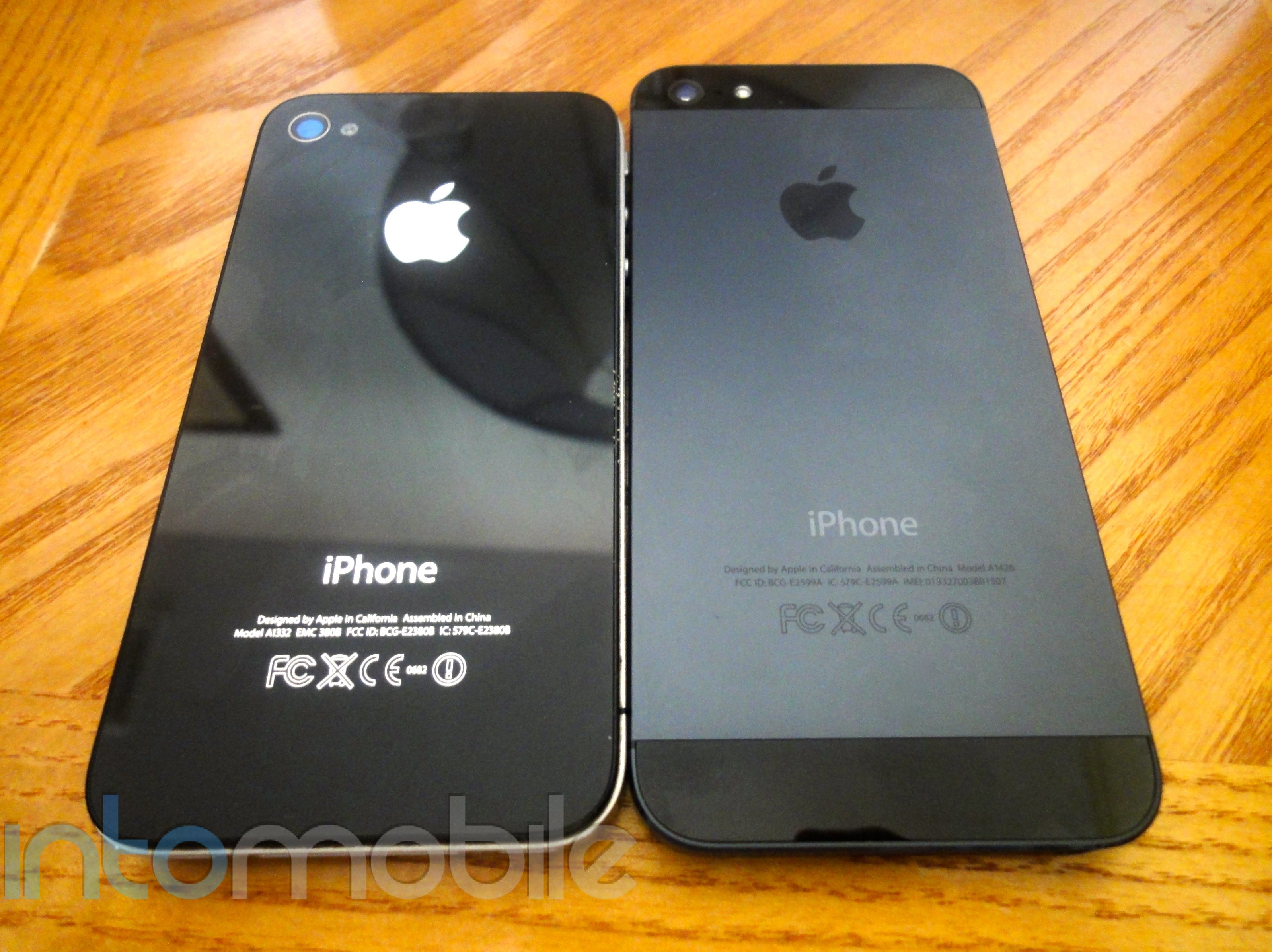 iPhone 5 review - comparison (back)