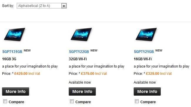 Sony Xperia Tablet S now available in the UK