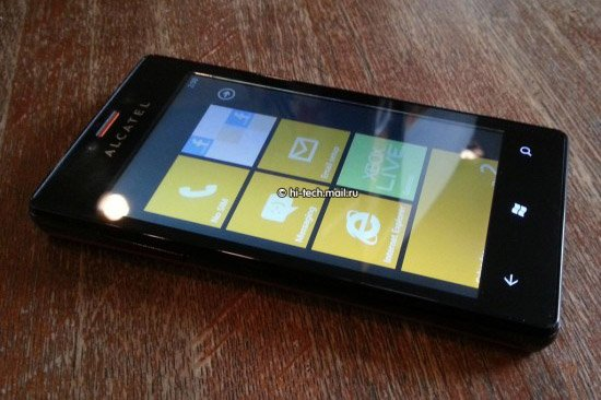 Alcatel Windows Phone 7.8 device