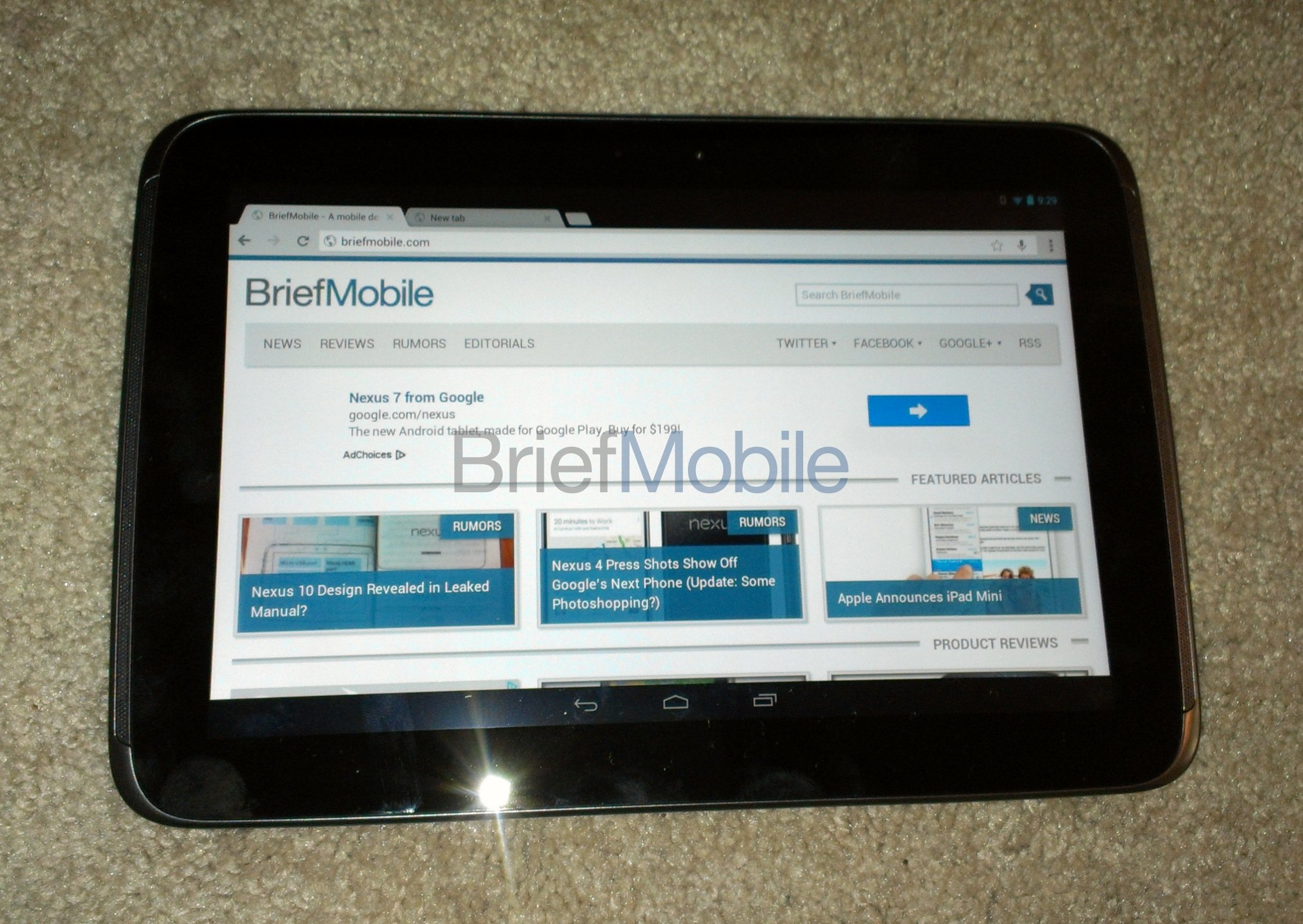 Google Nexus 10 leaked, again