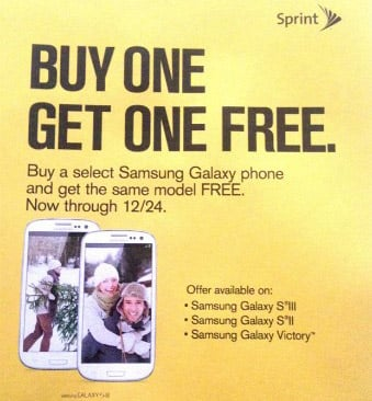 Sprint to launch new BOGO offer for Galaxy S II, Galaxy S III and Galaxy Victor