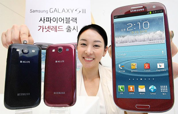 Red and black Samsung Galaxy S III now available in South Korea