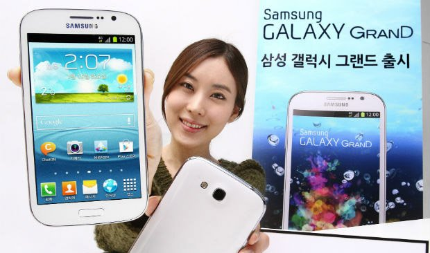 South Korean Samsung Galaxy Grand comes with a quad-core CPU clocked at 1.4GHz