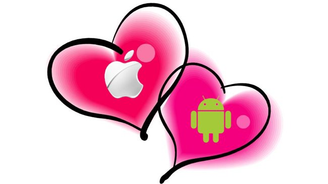 google-android-apple-ios-love