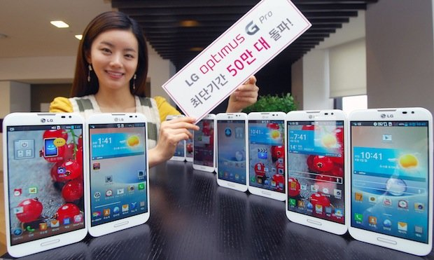 LG moves half a million Optimus G Pro units in South Korea